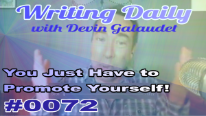 Self promotion for writers